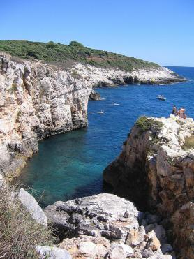Premantura se zátokou, Istrie