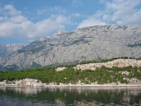 Pohled na moře v chorvatské Dalmácii