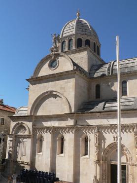 Chorvatské město Šibenik s katedrálou