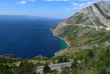 Pohled k moři v chorvatské Dalmácii