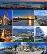 Různá místa a budovy chorvatského města Split